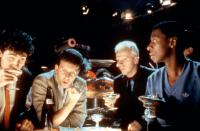 ODD JOBS, Paul Reiser (second from left), Rick Overton, Robert Townsend, 1986, (c)TriStar Pictures