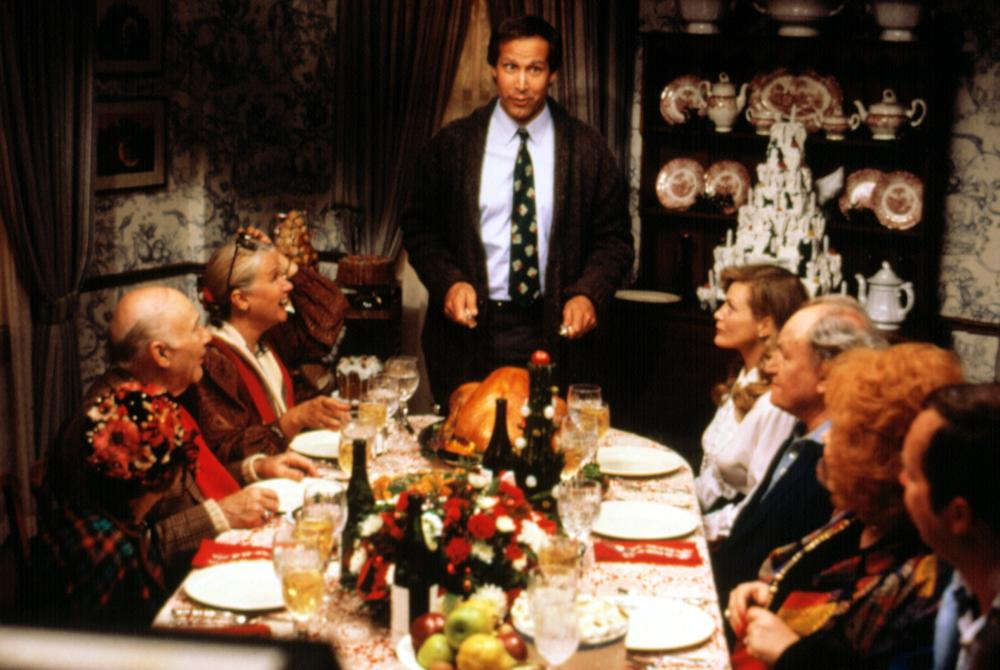 NATIONAL LAMPOON'S CHRISTMAS VACATION, John Randolph, Diane Ladd, Chevy Chase, Beverly D'Angelo, E.G. Marshall, Doris Roberts, 1989