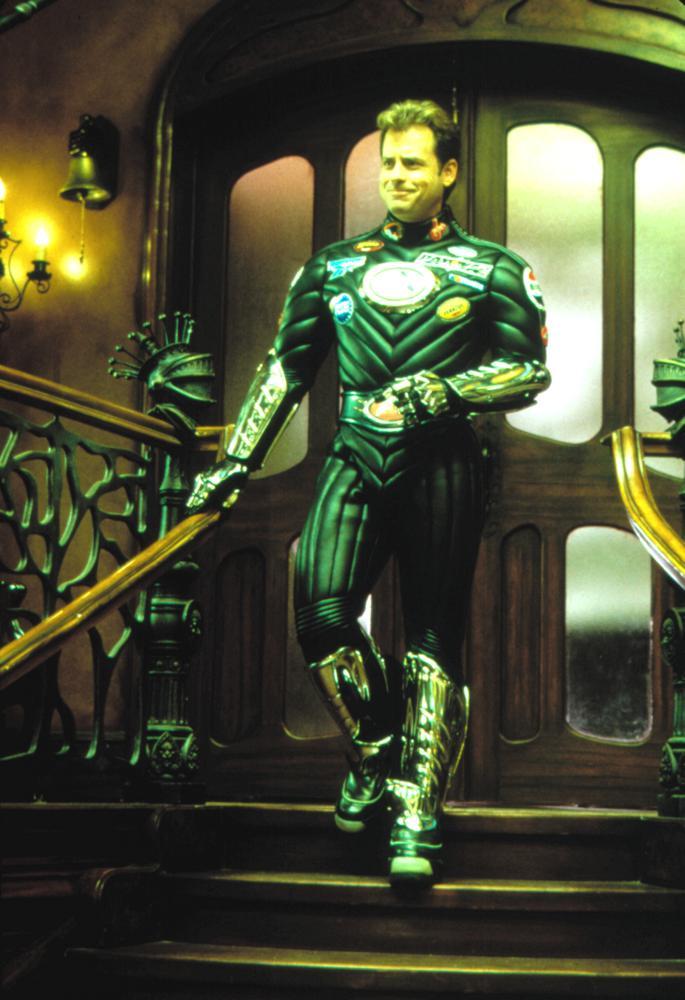 MYSTERY MEN, Greg Kinnear as Captain Amazing, 1999
