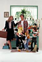 MR. MOM, Teri Garr, Courtney/Brittany White,  Michael Keaton, Taliesin Jaffe, Frederick Koehler, 1983. (c) MGM.