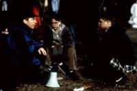 THE MIGHTY, director Peter Chelsom, Kieran Culkin, Elden Henson, on set, 1998. ©Miramax