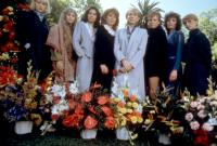 THE MAN WHO LOVED WOMEN, (l-r): Denise Crosby, Ellen Bauer, Sela Ward, Marliu Henner, Julie Andrews, Kim Basinger, Cynthia Sikes, Jennifer Edwards, 1983, (c)Columbia Pictures