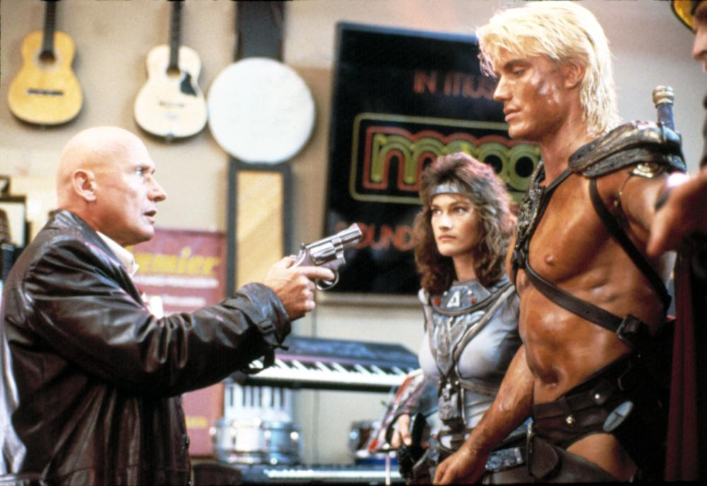 MASTERS OF THE UNIVERSE, James Tolkan, Chelsea Field, Dolph Lundgren, 1987.