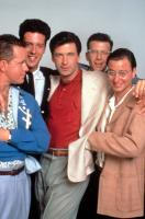 THE MARRYING MAN, Steve Hytner, Peter Dobson, Alec Baldwin, Paul Reiser, Fisher Stevens, 1991, (c)Buena Vista Pictures