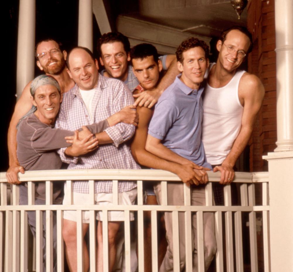 LOVE! VALOUR! COMPASSION!, (l-r): John Glover, Stephen Bogardus, Jason Alexander, Justin Kirk, Randy Becker, Stephen Spinella, John Benjamin Hickey, 1997, (c)Fine Line Features