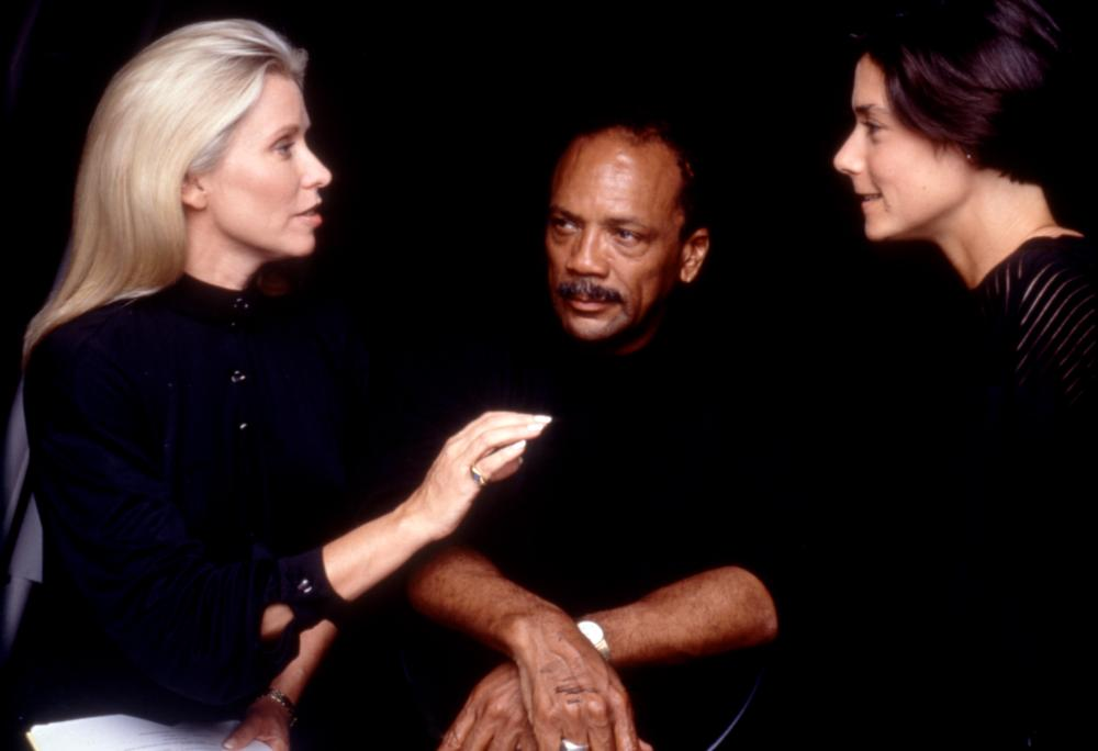 LISTEN UP: THE LIVES OF QUINCY JONES, producer Courtney Sale Ross, Quincy Jones, director Ellen Weissbrod, 1990, (c)Warner Bros.