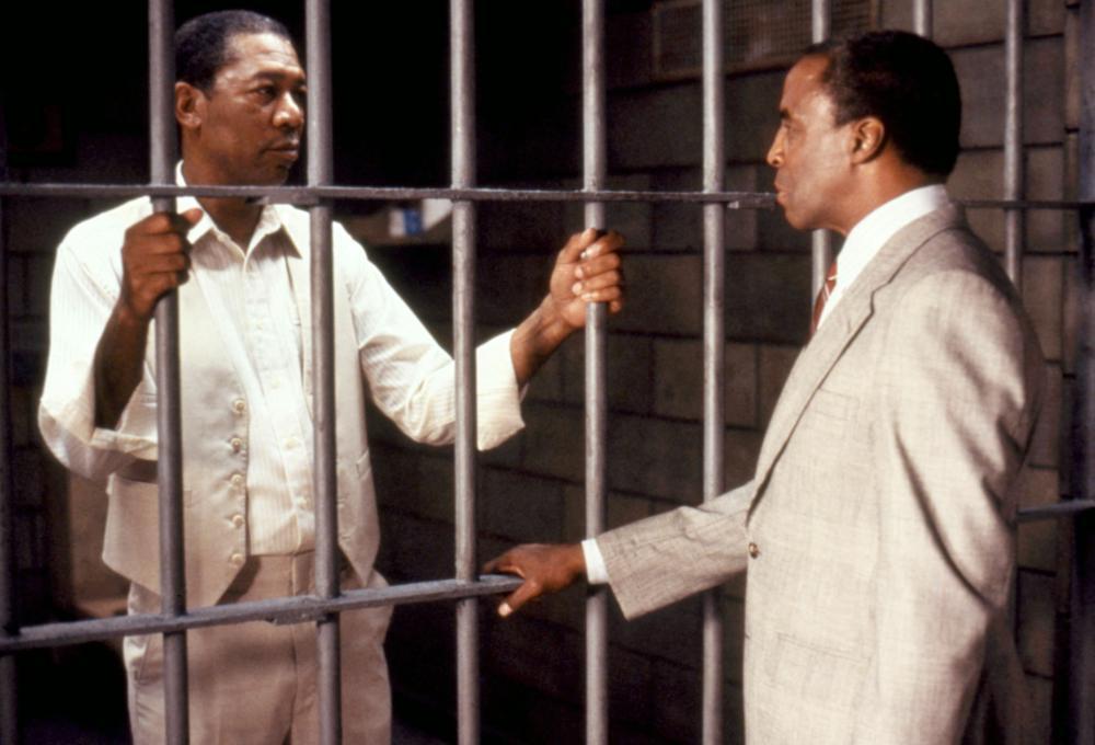 LEAN ON ME, Morgan Freeman, Robert Guilluame, 1989.  ©Warner Brothers
