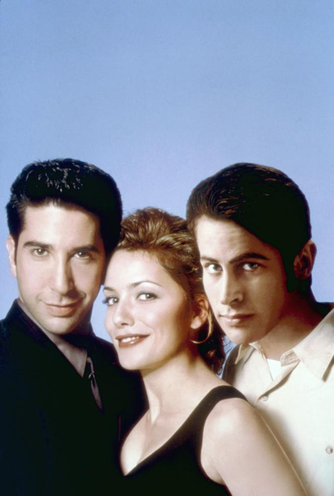 KISSING A FOOL, from left: David Schwimmer, Mili Avital, Jason Lee, 1998, ©MCA/Universal Pictures