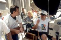 JINGLE ALL THE WAY, producer Chris Columbus, director Brian Levant, on set, 1996. TM and Copyright ©20th Century Fox Film Corp. All rights reserved.