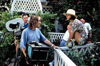 INDECENT PROPOSAL, Adrian Lyne, directing Demi Moore in a scene, 1993.