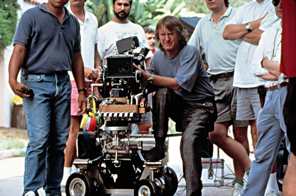 INDECENT PROPOSAL, Adrian Lyne, directing on location, 1993.