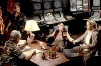 INVADERS FROM MARS, James Karen (seated), Eric Pierpoint, Hunter Carson, Karen Black, 1986. ©Cannon Films