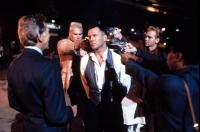 HUDSON HAWK, James Coburn, Andrew Bryniarski, David Caruso, Lorraine Toussaint, Bruce Willis (center), 1991, (c)TriStar Pictures