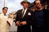 HUDSON HAWK, Don Harvey, James Coburn, Bruce Willis, 1991, (c)TriStar Pictures