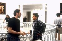 HEAD OVER HEELS, producer Robert Simonds, director Mark Waters, on set, 2001. ©Universal