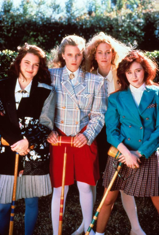 HEATHERS, Winona Ryder, Kim Walker, Lisanne Falk, Shannen Doherty, 1989. © New World Pictures