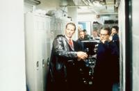 HAMLET, Sam Shepard, director Michael Almereyda, on set, 2000, (c)Miramax