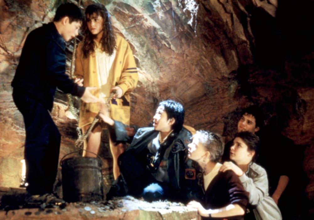 THE GOONIES, Sean Astin, Kerri Green, Ke Huy Quan (aka Jonathan Ke Quan), Martha Plimpton, Corey Feldman, Josh Brolin, 1985, (c)Warner Bros.