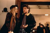 THE FABULOUS BAKER BOYS, Michelle Pfeiffer, director Steven Kloves on set, 1989, (c)TM and Copyright (c)20th Century Fox Film Corp. All rights reserved.