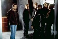 EYE SEE YOU (aka D-TOX), from left: Sylvester Stallone, Christopher Fulford, Robert Patrick, Courtney B. Vance, Jeffrey Wright, Robert Prosky, 2002, ©DEJ Productions