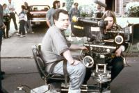 DR. GIGGLES, director Manny Coto on set, 1992, (c)Universal