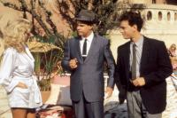 DRAGNET, Julia Jennings, Dan Aykroyd, Tom Hanks, 1987. ©Universal