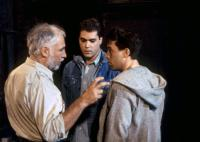 DOMINICK AND EUGENE, director Robert M. Young, Ray Liotta, Tom Hulce, on set, 1988. ©Orion Pictures