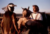 DANCES WITH WOLVES, Rodney Grant, Kevin Costner, 1990, (c)Orion Pictures Corp