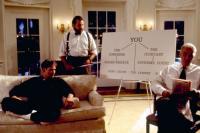 DAVE, Kevin Kline, Kevin Dunn, Frank Langella, 1993. ©Warner Bros.