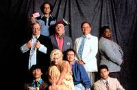 CRAZY PEOPLE, (Front L-R) Doug Yasuda, Daryl Hannah, Dudley Moore, Danton Stone,(Back L-R) Alan North, David Paymer, Dick Cusack, Bill Smitrovich, Paul Bates, 1990