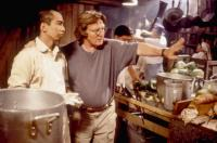 COME SEE THE PARADISE, Stan Egi, director Alan Parker, on set, 1990. TM and Copyright ©20th Century Fox Film Corp. All rights reserved.