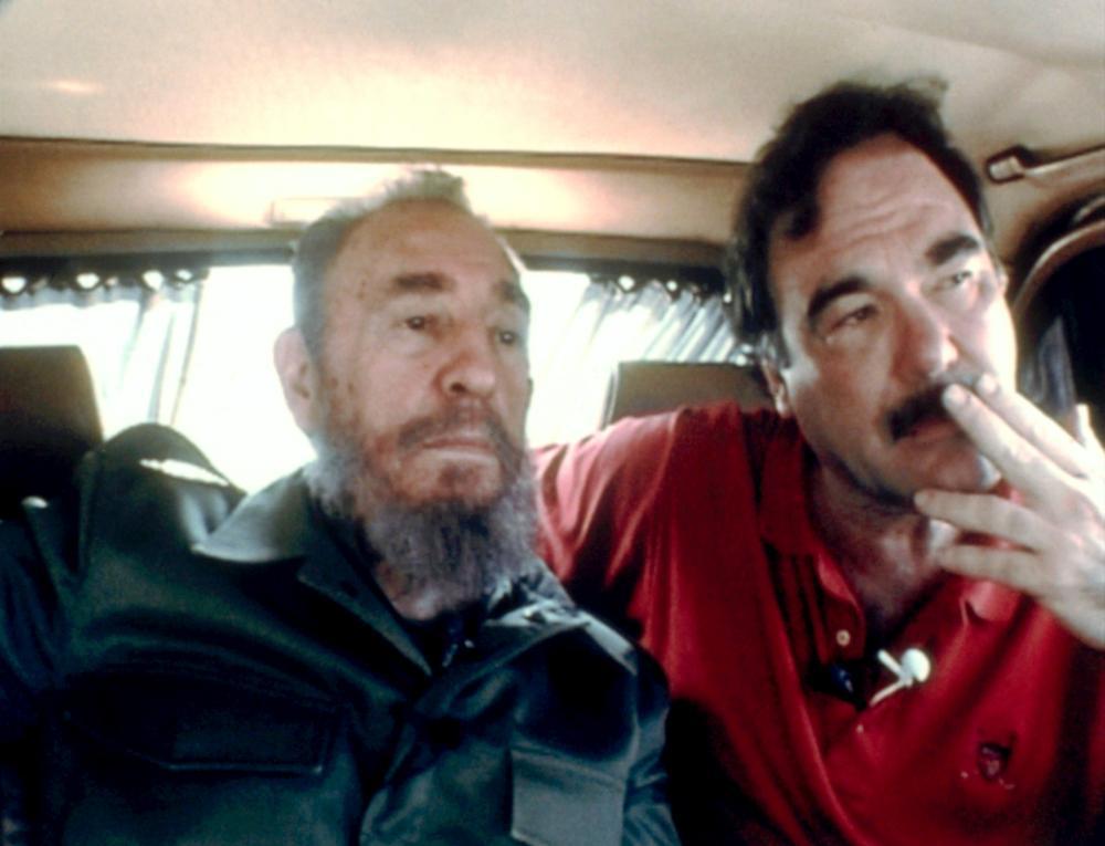 COMANDANTE, Fidel Castro, director Oliver Stone, on set, 2003. ©Mikado