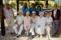COCOON: THE RETURN, back row (l to r): Wilford Brimley, Steve Guttenberg, Tahnee Welch, Tyrone Powell Jr, front row (l to r): Don Ameche, Jessica Tandy, Hume Cronyn, Maureen Stapleton, Gwen Verdon, Jack Gilford, 1988, TM and Copyright (c)20th Century Fox F
