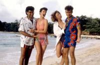 CLUB PARADISE, Eugene Levy, Mary Gross, Robin Duke, Rick Moranis, 1986, (c)Warner Bros.