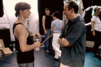 CENTER STAGE, Ethan Stiefel, director Nicholas Hytner, on set, 2000. (c)Columbia Pictures