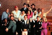 CANNONBALL RUN II, Burt Reynolds, Jackie Chan, Abe Vigoda, Dom DeLuise, Dean Martin, Sammy Davis Jr., Jamie Farr, Marilu Henner, Shirley MacLaine, Catherine Bach, 1984.