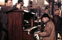 CANNERY ROW, Frank McRae (second from left), M. Emmet Walsh (center), 1982, (c)MGM