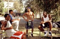 THE BROTHERS, Bill Bellamy, D.L. Hughley, Shemar Moore, Morris Chestnut, 2001, (c)Screen Gems