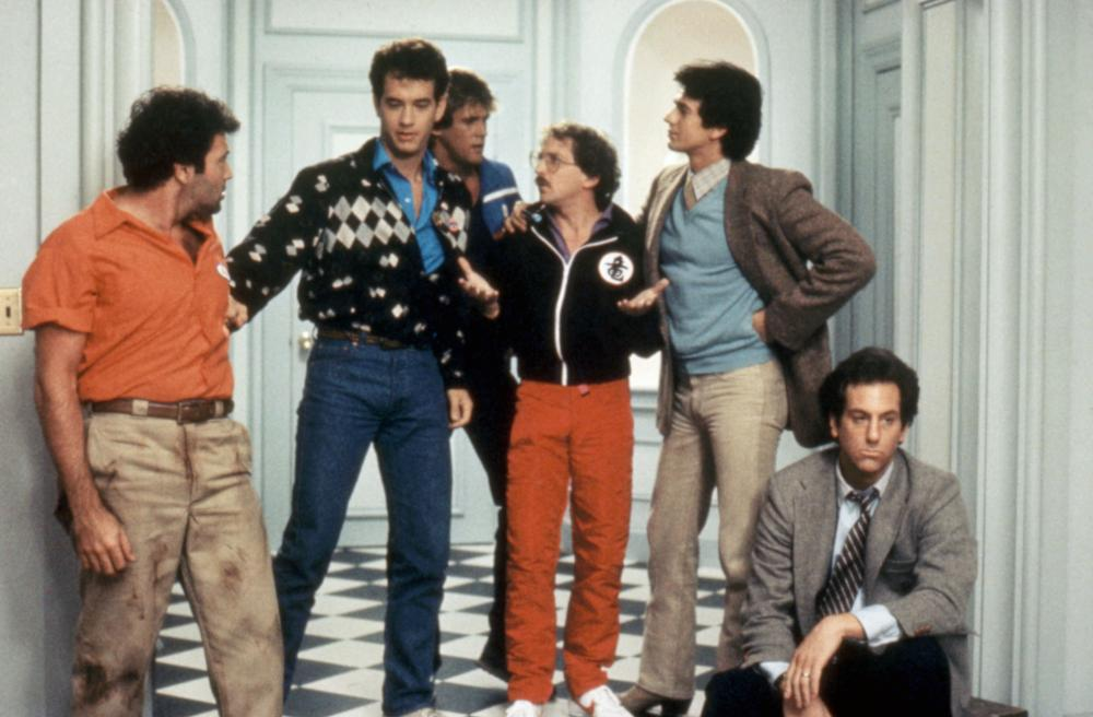 BACHELOR PARTY, Bradford Bancroft, Tom Hanks, Michael Dudikoff, Barry Diamond, Adrian Zmed, William Tepper, 1984.TM and Copyright © 20th Century Fox Film Corp. All rights reserved..