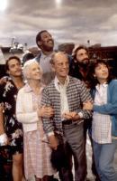 BATTERIES NOT INCLUDED, Michael Carmine, Jessica Tandy, Frank McRae, Hume Cronyn, Dennis Boutsikaris, Elizbeth Pena, 1987. ©Universal