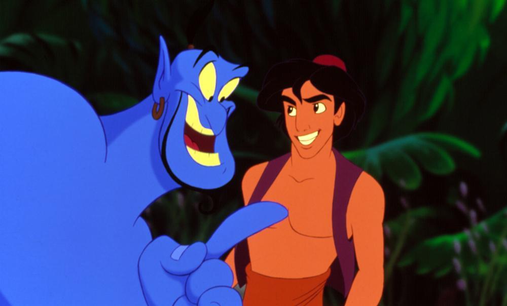 ALADDIN, Genie, Aladdin, 1992. (c) Walt Disney.