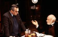 THE AGE OF INNOCENCE, director Martin Scorsese on set with actor Norman Lloyd, 1993, (c)Columbia Pictures