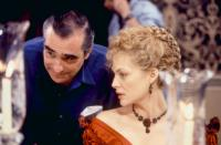 THE AGE OF INNOCENCE, director Martin Scorsese, Michelle Pfeiffer, on set, 1993. (c)Columbia Pictures