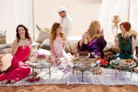 SEX AND THE CITY 2, foreground from left: Kristin Davis, Sarah Jessica Parker, Kim Cattrall, Cynthia Nixon, 2010. ©Warner Bros.