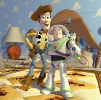 TOY STORY 3, Woody (voice: Tom Hanks), Buzz Lightyear (voice: Tim Allen), 2010. ©Buena Vista Pictures