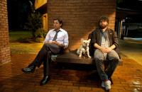 DUE DATE, from left: Robert Downey Jr., Zach Galifianakis, 2010, Ph: Melinda Sue Gordon, © Warner Brothers
