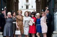 MADE IN DAGENHAM, women, from left: Nicola Duffett, Andrea Riseborough, Geraldine James, Miranda Richardson, Sally Hawkins, Jaime Winstone, Lorraine Stanley, 2010. ph: Susie Allnut/©Sony Pictures Classics