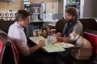DUE DATE, from left: Robert Downey Jr., Zach Galifianakis, 2010. Ph: Melinda Sue Gordon/©Warner Brothers