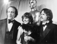 From left: producers Michael Phillips, Julia Phillips, Tony Bill, at the Academy Awards where they won Best Picture for THE STING, 1974