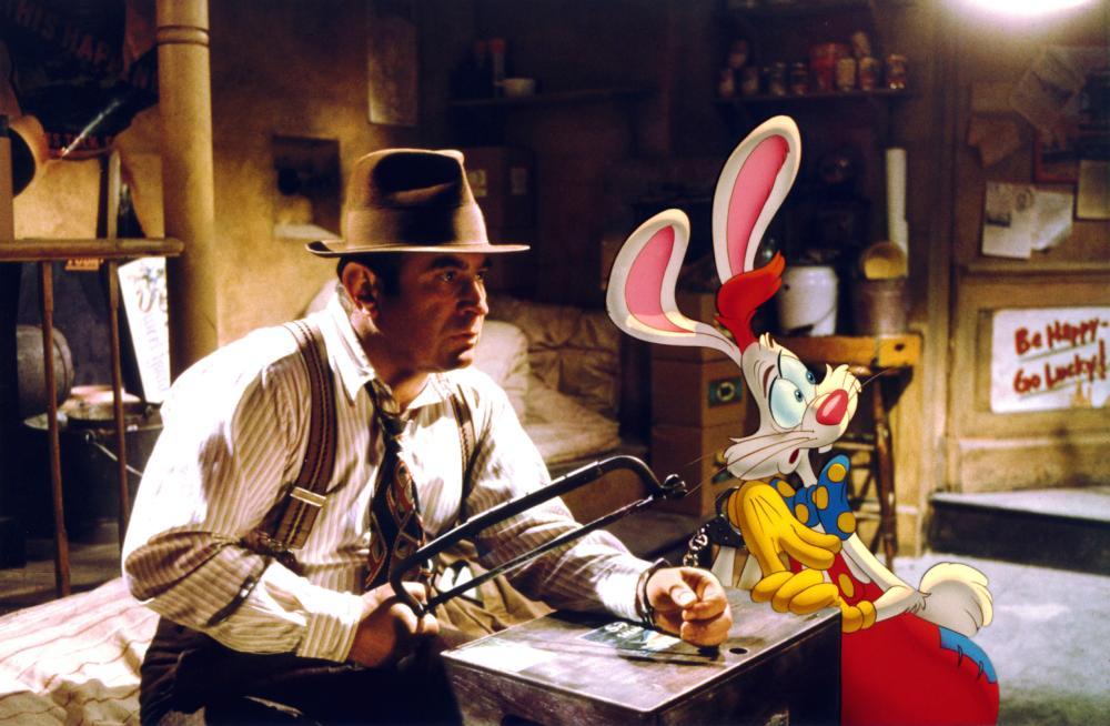 WHO FRAMED ROGER RABBIT?, Bob Hoskins, 1988. (c) Buena Vista Pictures